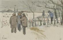 Шахтеры в снегу - зима (Miners in the Snow - Winter), 1882 - Гог, Винсент ван