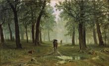 Дождь в дубовом лесу - Шишкин, Иван Иванович