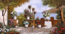 Терраса кафе у моря - Борелли, Гвидо (20 век)
