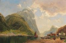 Пейзаж с фьордом - Майнцольт, Георг Михаэль