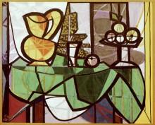 Натюрморт с кувшином и вазой с фруктами - Пикассо, Пабло