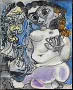 Женщина и мушкетер - Пикассо, Пабло