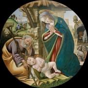 Поклонение Младенцу Христу - Боттичелли, Сандро