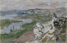 Вид на Сену с высоты холма - Моне, Клод