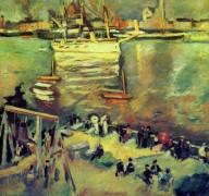 Прибытие корвета в гавани Антверпена - Фриез, Отон Эмиль