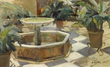 Фонтан во дворе, Севилья, 1915 - Бастида, Хоакин Соролла