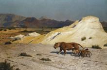 Львица со львятами - Жером, Жан-Леон