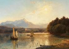 Закат солнца над Велденом, озеро Вёртерзе - Хлавачек, Антон