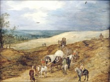 Пейзаж с повозкой, 1602 - Брейгель, Ян (младший)
