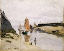 Вход в порт Трувиль, 1870 - Моне, Клод