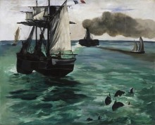 Морской пейзаж - Мане, Эдуард