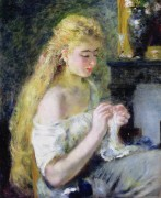 Женщина за шитьем - Ренуар, Пьер Огюст