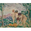 Девочки, играющие со львёнком - Вальта, Луи
