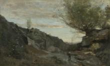 Ручей в Абруццо - Коро, Жан-Батист Камиль