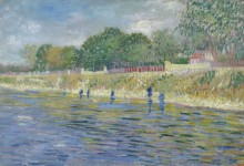 Берег Сены (The Bank of the Seine), 1887 - Гог, Винсент ван