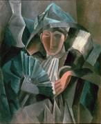 Женщина с веером - Пикассо, Пабло