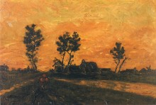 Пейзаж на закате (Landscape at Sunset), 1885 - Гог, Винсент ван