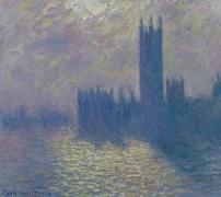 Здания Парламента, неспокойное небо, 1903 - Моне, Клод