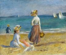 Фигуры на пляже - Ренуар, Пьер Огюст