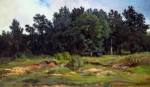 Дубовый лесок в серый день, 1873 - Шишкин, Иван Иванович