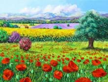 Провансальский пейзаж - Жаньячик, Жан-Марк (20 век)