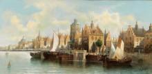 Пейзаж в Амстердаме - Зиген, Август фон