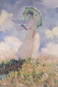 Женщина с зонтиком, повернутая влево - Моне, Клод