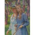 Портрет мадам Шлюмбергер с дочерью, 1918 - Рейссельберге, Тео ван