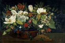 Натюрморт с цветами - Курбе, Гюстав