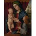 Мадонна с младенцем и ангелом - Франча, Франческо