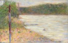 Берег реки (Сена в Аньер) - Сёра, Жорж-Пьер