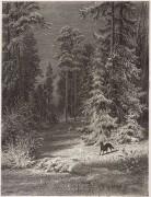 Зимняя ночь, 1876 - Шишкин, Иван Иванович