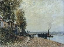 Буксир на реке Луэн, Сен-Мамес - Сислей, Альфред