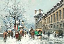 Улица в Париже - Бланшар, Антуан