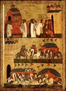 Чудо от иконы Б.М.Знамение в битве между новгородцами и суздальцами (первая половина XV в) (133 х 90 см)