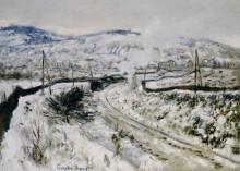 Зимний пейзаж с поездом, Аржантёй - Моне, Клод