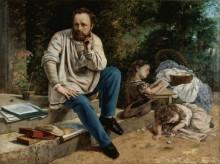 Пьер-Жозеф Прудон со своими детьми - Курбе, Гюстав