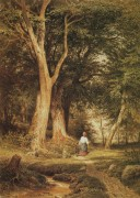 Женщина с мальчиком в лесу, 1868 - Шишкин, Иван Иванович