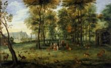 Парк эрцгерцогов Альбрехта и Изабеллы у замка Куденберг близ Брюсселя - Брейгель, Ян (младший)