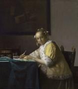 Женщина, пишущая письмо - Вермеер, Ян
