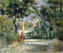 Пейзаж с видом на Сакр-Кёр - Ренуар, Пьер Огюст