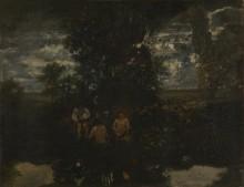 Купальщицы при лунном свете - Руссо, Теодор