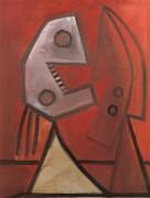 Поцелуй, красный фон, 1929 - Пикассо, Пабло