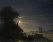 Украинский пейзаж ночью - Айвазовский, Иван Константинович