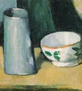 Кувшин молока и чашка - Сезанн, Поль