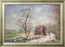 Пейзаж с цветущими деревьями, 1889 - Сислей, Альфред