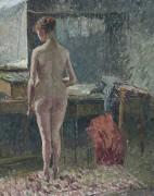 Обнаженная в комнате, 1895 - Писсарро, Камиль
