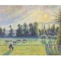Пастбища, закат, Эрагни, 1890 - Писсарро, Камиль