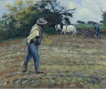 Сеятель и пахарь, Монтфуко, 1875 - Писсарро, Камиль