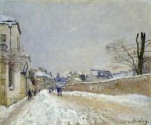 Улица Эжена Муссуара в Море, зима - Сислей, Альфред